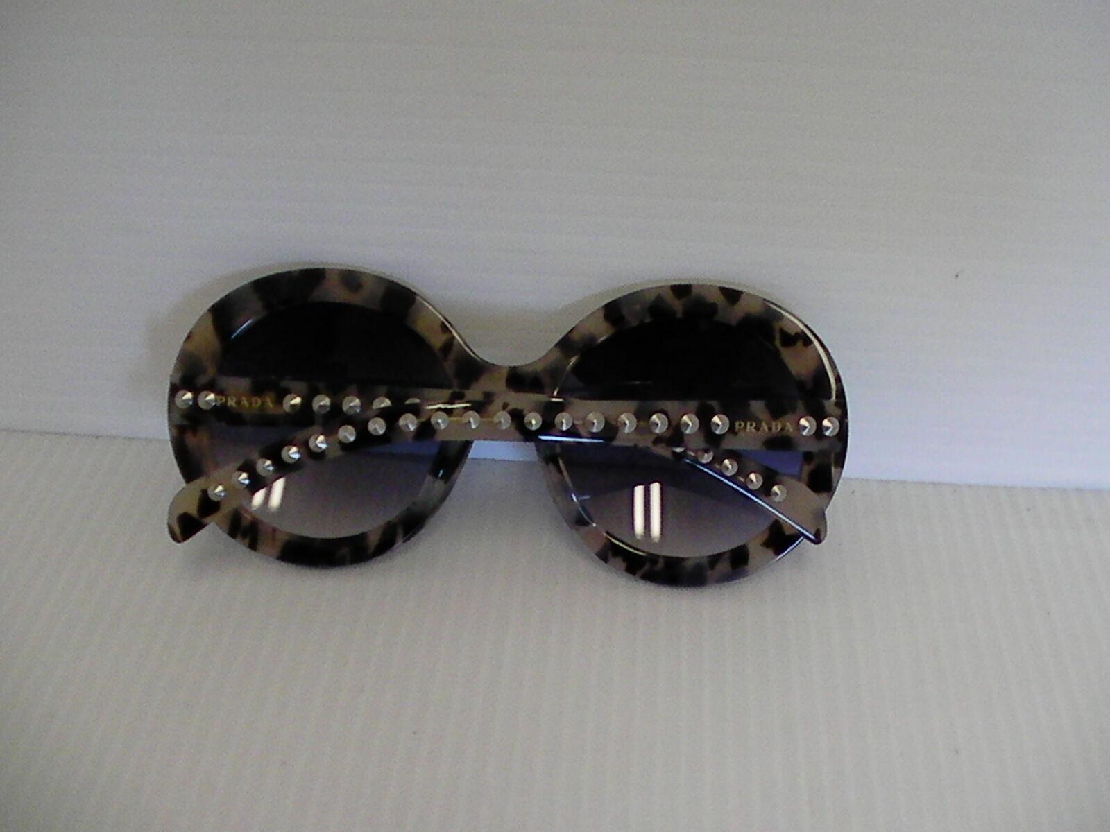 Damen Prada Neue Sonnenbrillen Schwarz Beige mit Nieten Besetzt Barock Spr29qsk image 7