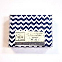 Sweet Home 1500 Supreme Collection 4pc Queen Sheet Set Microfiber Navy Z... - $32.83