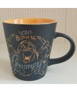 Disney Store Grumpy Mug Don't Bother Me 12oz Orange Pickaxe Pick Axe Bla... - $27.72