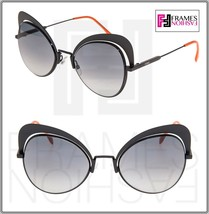 FENDI EYESHINE FF0247S Matte Black Coral Metal Sunglasses Round Runway 0247 - $163.35