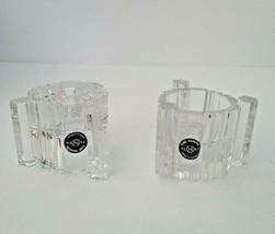 Vintage Set of 2 Lenox Fine Crystal Votive or Candle Stick/Tapper Holders - $29.65