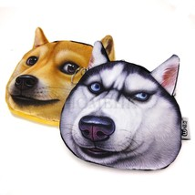 Shiba Husky -Dog 3D Coin Bag Brown Case Purse Emboss Wallet Toy Puppy Japan Gift - $8.90