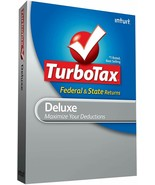 Turbotax 2008 Deluxe Federal plus state 2008 Turbo tax For Window's and ... - $14.84