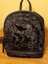 NWT MUDD Small Traveler Dome Backpack  multizipper pockets Black Crushed... - €17,51 EUR