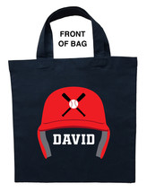 Baseball Trick or Treat Bag, Personalized Baseball Halloween Bag, Baseba... - $11.99+