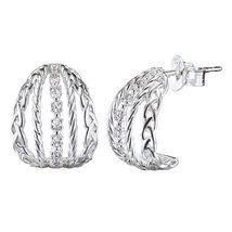 Avon Sterling Silver Mixed Row Earrings  - $28.49