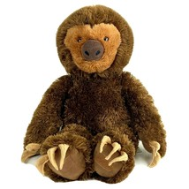 "Build A Bear Workshop Brown Sloth 18"" Plush Stuffed Animal Hugging Paws  - $12.46"