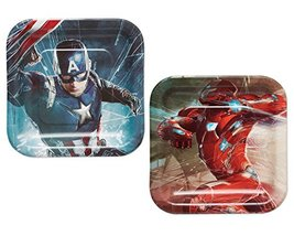 American Greetings Captain America Paper Dessert Plates, 8 Count - $6.04
