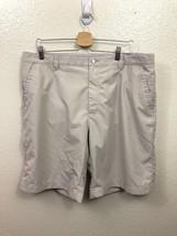 Callaway Golf Shorts Flat Front Polyester Tan Khaki Men's Size 40 - $13.05