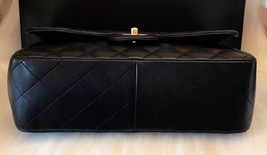 100% Authentic Chanel 2015 Black Quilted Lambskin Jumbo Classic DOUBLE Flap Bag  image 3