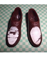 Barbie Vintage Ken Shoes Brown & White Loafers JAPAN Squishy Oxford Tie Ups - $3.50