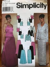 Simplicity 7010 Pattern - Evening Two Piece Dress Camisole Style Top Maxi Skirt  - $6.30