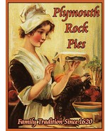 Plymouth Rock Pies Family Tradition Since 1620 Harvest Fall Metal Sign - $19.95