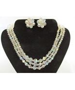 Vintage Three Strand Aurora Borealis Crystal Ne... - $25.00