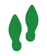 LiteMark Green Removable Elf Footprint Decal Stickers - Pack of 12 - $19.95