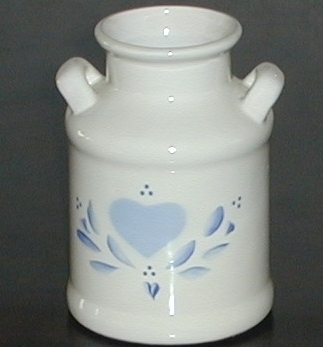 Lasting Products Hand Painted Ceramic Milk Can Vase