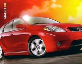 2008 Toyota MATRIX sales brochure catalog 08 US XR - $6.00