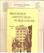 Brookings Institution catalog 1937 letterhead vintage humanitarian ephemera - $8.00