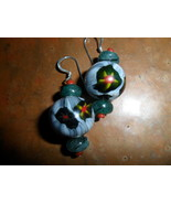 Vintage Italian Glass Bead Handmade Dangle Earrings - $12.00