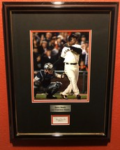 BARRY BONDS AUTOGRAPHED HAND SIGNED CONTRACT SIGNATURE GIANTS FRAMED w/COA - $249.99