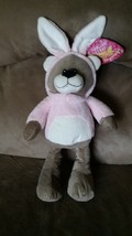 "2016 Easter Bunny Ear Bear Brand New Plush Stuffed Animal Nwt 16"" Sugar Loaf - $9.99"
