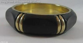 Black Resin and Brass Bangle - $19.95