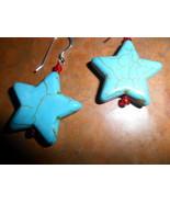 Turquoise Star Earring Handmade. - $12.00
