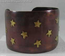 Copper and Brass Star Design Cuff - $24.95