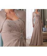 Elegant Long Mother Of the Bride Dresses Beaded Custom Made Ruffle Prom ... - $135.88
