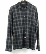 POLO RALPH LAUREN Size XL Men's Plaid Knit Button Down Shirt - $19.99