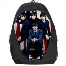 backpack  beatle paul ringo lennon george cult rock band school bag - $39.79