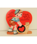 Vintage Valentines Day Card Bowling Unsigned 19... - $1.25