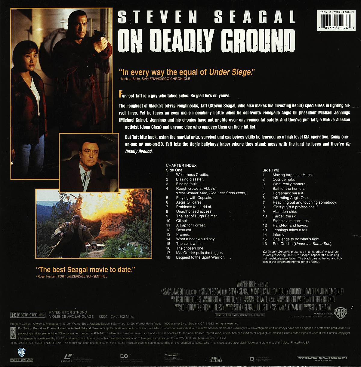 ON DEADLY GROUND LTBX JOAN CHEN  LASERDISC RARE