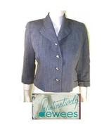 Vtg 50s Deweese secretary jacket gray small - $18.99