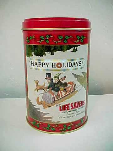 1989 Limited Edition Life Savers Holiday Keepsake Tin