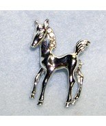 tiny silver colt pony pin - $8.50