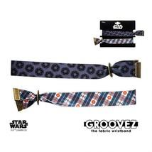 Disney Star Wars Polyester Fabric Stormtrooper and Tie Fighter Groovez Bracelet - $19.98