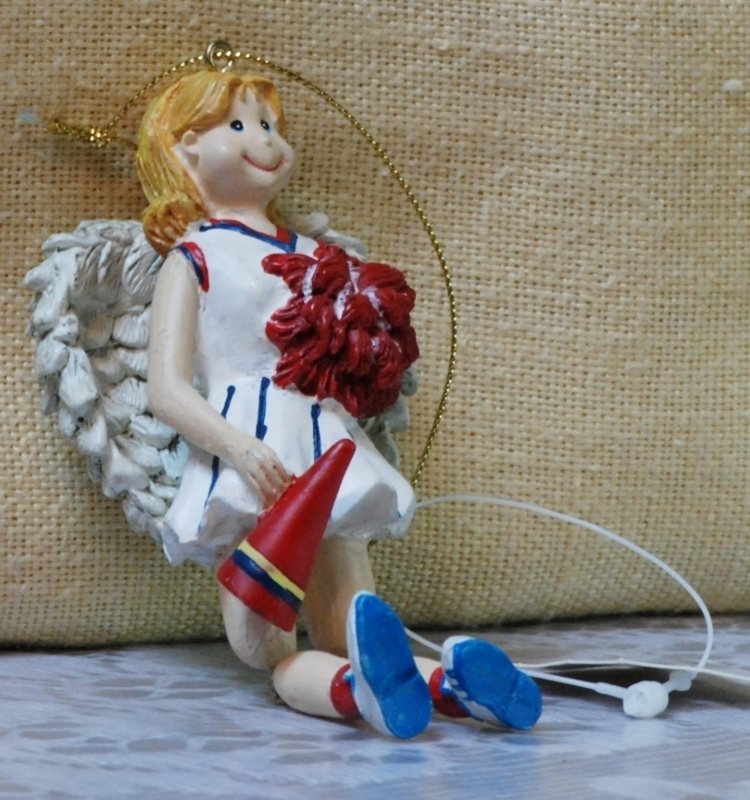 Cheerleader Angel Ornament Ganz NEW