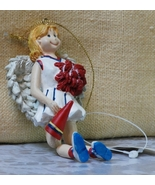 Cheerleader Angel Ornament Ganz NEW - $5.60
