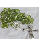 Peridot glass beads Rosary - $26.00