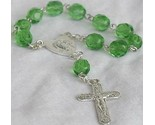 Mini green glass rosary 4 thumb155 crop