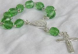Mini green glass rosary 3 thumb200