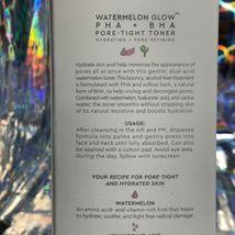 NEW In Box Glow Recipe PHA + BHA Pore Tight Toner FULL Size +BONUS! Pink Juice image 6