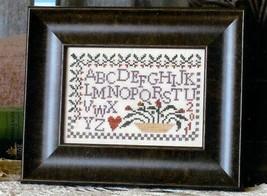 Flower Basket Sampler cross stitch chart From The Heart  - $3.60