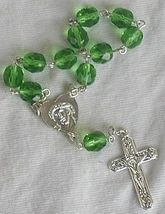 Mini green glass rosary 1 thumb200