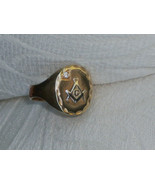 Vintage 10k Gold Masonic Ring  - $299.99