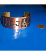 copper cuff bracelet native american tribal etc... - $18.50