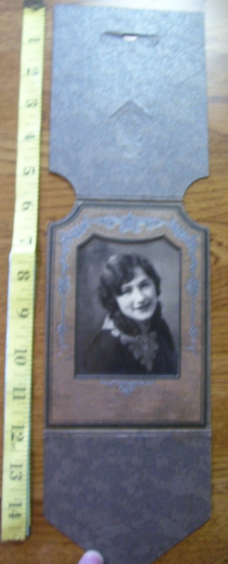 Cabinet Card 1920`s Beauty Folding Stand Up Frame!