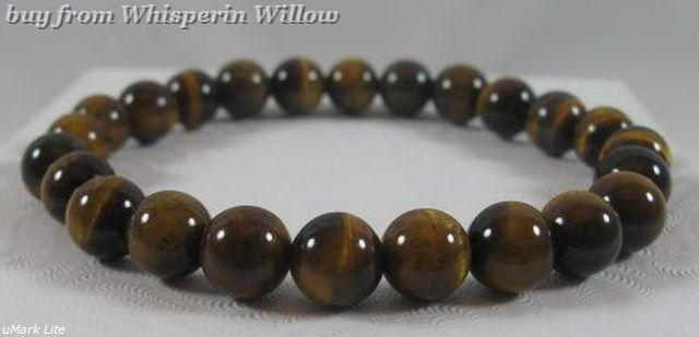 Primary image for Geniune Tiger's Eye Bead Stretch Fashion Bracelet