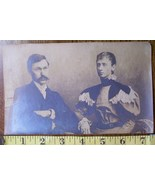 Photo Lot (2) 1897 Photo + Cabinet Card Same Couple! - $6.00
